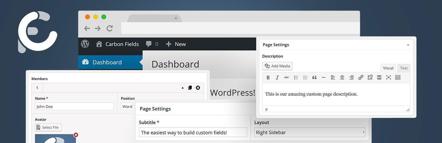 Carbon Fields for WordPress